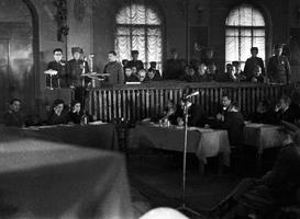 1946, Україна, Київ. Процес справи німецьких загарбників на території УРСР.